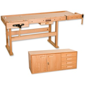 Axminster Premium AS Workbench & Pro 2 Cupboard - PACKAGE DEAL