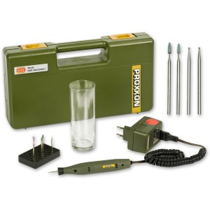 Proxxon Engraving Kit & 4 Piece Glass Working Set - PACKAGE DEAL