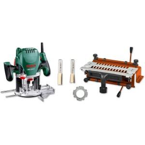 UJK Technology Dovetail Jig, Bosch POF 1200 AE Router & Cutter Set