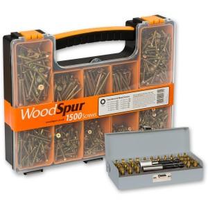 WoodSpur Torx Wood Screws & 28 Pce TiN Bit Set - PACKAGE DEAL