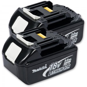 Makita BL1830 Li-Ion Battery 18V (3.0Ah) x 2 - PACKAGE DEAL