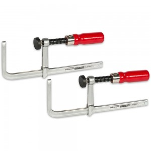 Axminster Trade Clamps Guide Rail Clamp - Pair