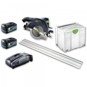 Festool HKC 55 Li 5.2 EB-SET FS Saw & FS 1400 Guide Rail AIRSTREAM 18V