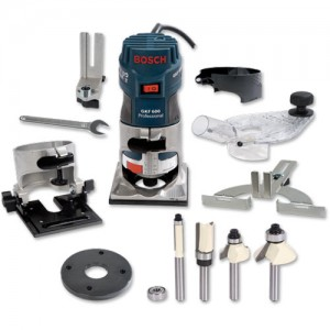"Bosch GKF 600 Router (1/4"") - PACKAGE DEAL"