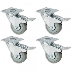Axminster 50mm Castoring Wheel With Lock - Pack of 4