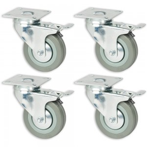 Axminster 75mm Castoring Wheel With Lock - Pack of 4