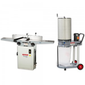 Axminster Trade Series CT1502 150mm Surface Planer & CT-90H Extractor
