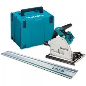 Makita DSP600ZJ Plunge Saw 18V (Body Only), 1.4m Rail & Makpac Case