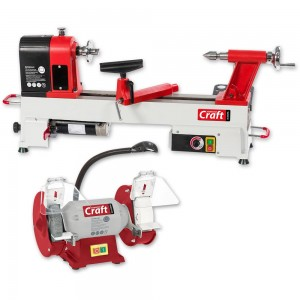 Axminster Craft AC305WL Woodturning Lathe & AC150WSG Grinder Package