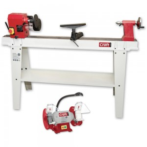 Axminster Craft AC370WL Woodturning Lathe & AC150WSG Grinder Package