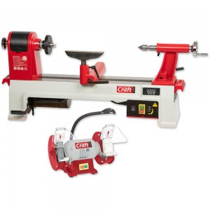 Axminster Craft AC355WL Woodturning Lathe & AC150WSG Grinder Package