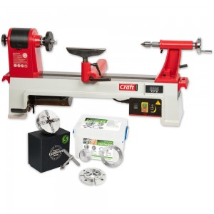 Axminster Craft AC355WL Woodturning Lathe & SK100 Chuck Package