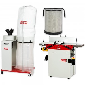 Axminster Craft Planer Thicknesser, Extractor & Filter Package