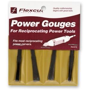 Flexcut RG310 4 Piece Power Carving Detail Gouge Set