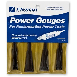 Flexcut RG404 4 Piece Power Carving Roughing Gouge Set