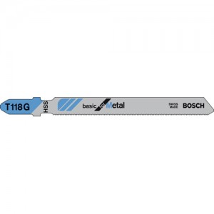 Bosch T118G Metal Cutting Jigsaw Blades