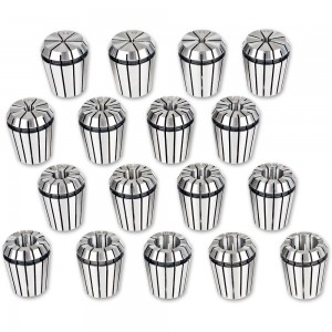 Axminster 17 Piece ER32 Precision Collet Set