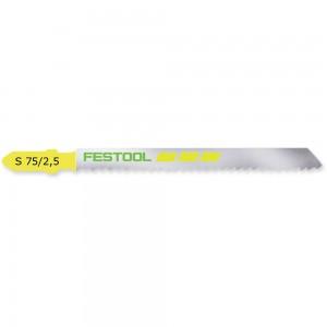 Festool S 75/2,5 Wood and Plastic Cutting Jigsaw Blades