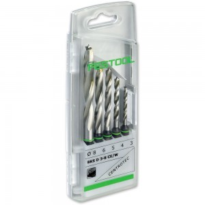 Festool CENTROTEC 5 Piece Wood Drill Bit Set