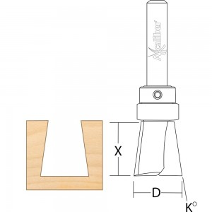 Axcaliber Cutter for Axcaliber Dovetail Jigs (19-30mm Material)