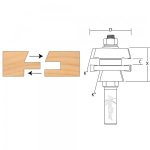 Axcaliber Stile and Rail Cutter (Shaker)