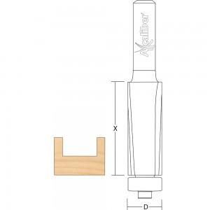 Axcaliber Flush Trim Cutter with Down Shear - Bottom Bearing