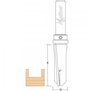 Axcaliber Flush Trim Cutter with Down Shear - Top Bearing