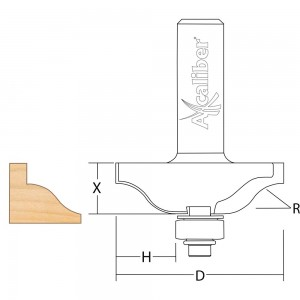 Axcaliber Bearing Guided Ogee Cutter