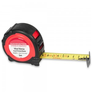 Axminster Precision Metric Vice-Versa Tape