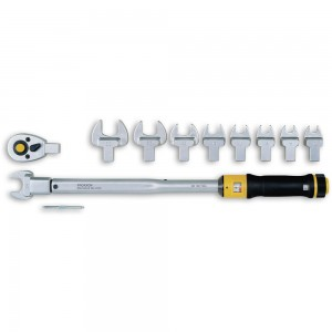 Proxxon MC200 Torque Wrench & 10 Plug-On Tools