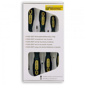 Proxxon 6 Piece Screwdriver Set (Pz & Slot)
