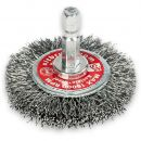 Crimped Steel 50mm Wire Wheel Brush with Hex Shank