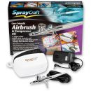 SprayCraft SP30 Top Feed Airbrush & Compressor Set