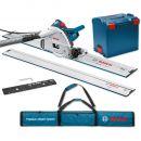 Bosch GKT 55 GCE Plunge Saw, 2 x 1.6m Rails, Connector & Rail Bag 230V