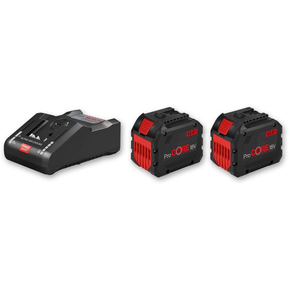 Bosch ProCore Li Ion Batteries & Charger 18V (12.0Ah)