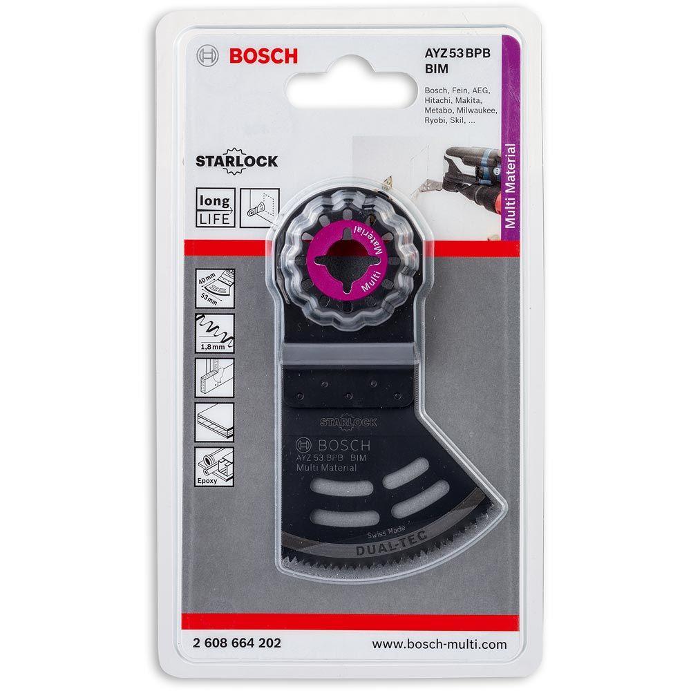 2608664202, Bosch Professional AYZ 53 BPB Dual-Tec BIM Tauchsägeblatt Starlock