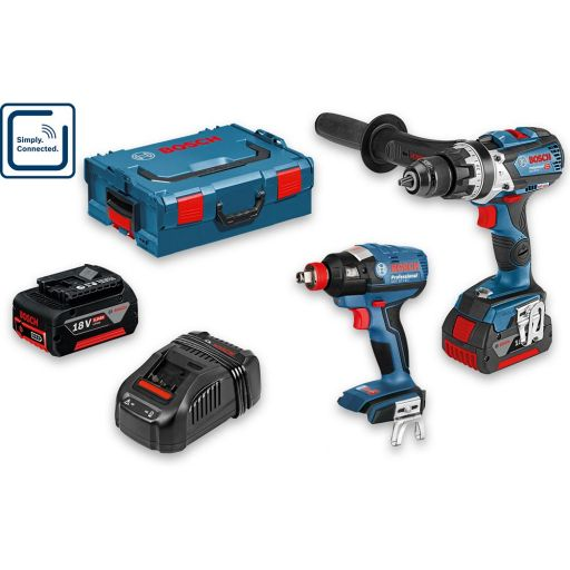 Bosch GSB18V-85 C Combi & GDX 18V-200 C Professional 18V (5.0Ah)