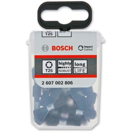 Bosch Impact Control Screwdriver Bits T25 25mm  (25)