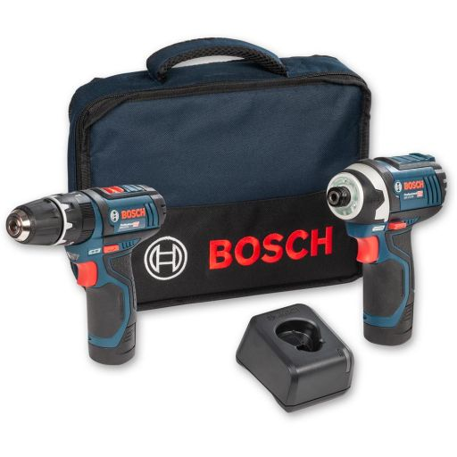 Bosch GSB12V-15/GDR 12V Combi & Impact Kit 12V