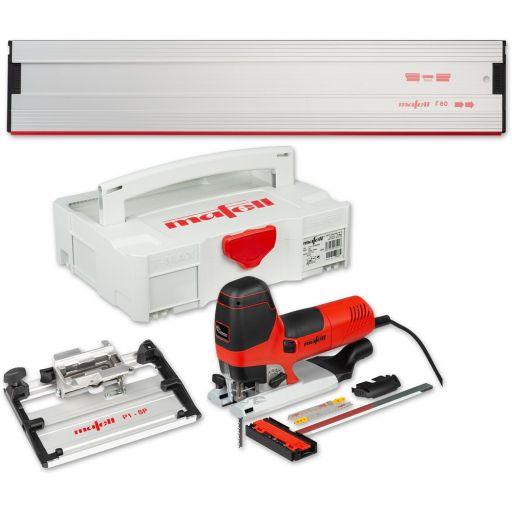 Mafell P1cc Jigsaw Kit with Rail & Tilt Base Kit 230V