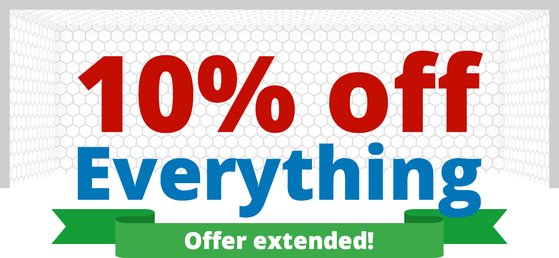 10% off everything - extended until 9.30am Monday!