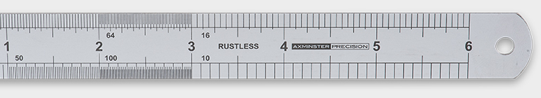 Axminster Precision Rustless Steel Rule