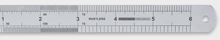 Axminster Precision Rustless Steel Rule