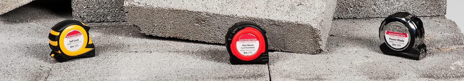 Axminster Precision Tape Measures