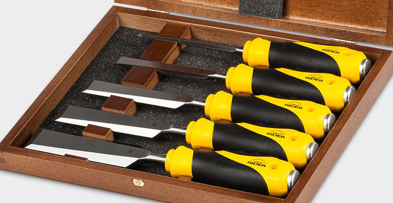 Bevel Edge Chisel Soft-Grip Handle 5 Piece Set