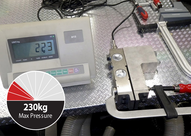 Load cell machine - giving maximum pressure