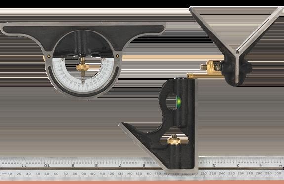 Axminster Precision 300mm Cast Iron Combination Square Set