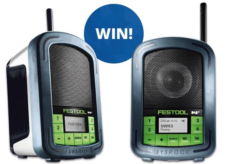 Win a Festool SYSROCK Radio
