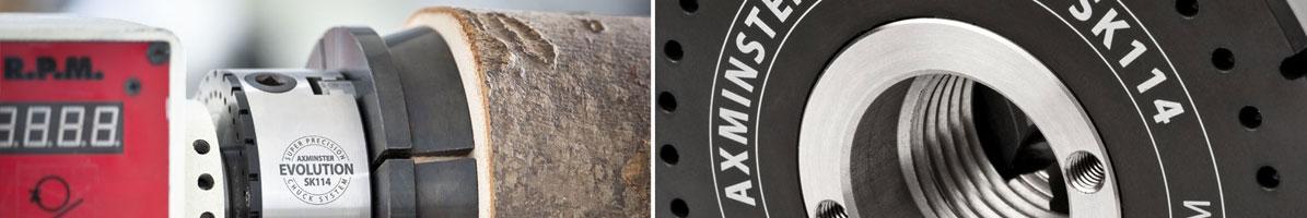 Axminster Woodturning Chucks Logo