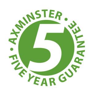Axminster 5 Year Chuck Guarantee Inset